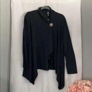 Bobeau Women size XL Wrap Cardigan Gray